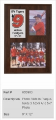 Photo Slide-In Plaque - Holds 3 1/2x5 & 5x7 Photo