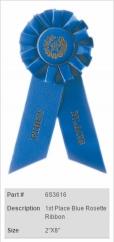 1st Place Blue Rosette Ribbon