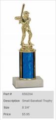 Small Baseball Trophy