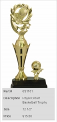 Royal Crown Basketball Trophy
