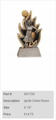 Ignite Cheer Resin Trophy