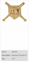 Baseball Chenille Pin