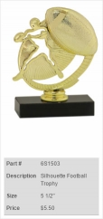Silhouette Football Trophy
