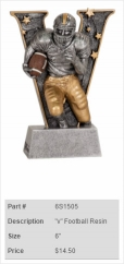 Varsity Football Resin Trophy