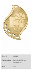 Basketball-Flame-Sport-Medal