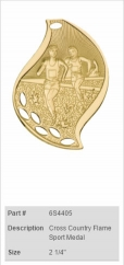 Cross-Country-Flame-Sport-Medal