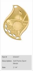 Golf-Flame-Sport-Medal