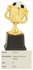 Happy Cup Soccer Trophy