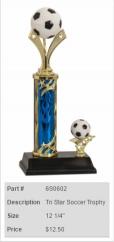 Tri Star Soccer Trophy