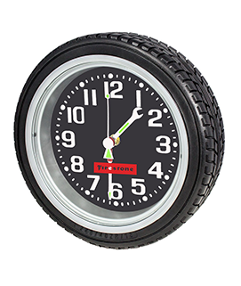 10in Tire Wall Clock
