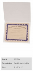 Certificate & Holder
