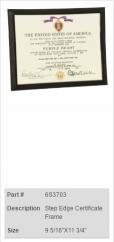 Step Edge Certificate Frame