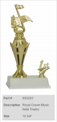 Royal Crown Music Note Trophy
