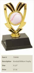 Baseball Ribbon Trophy