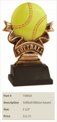 Softball Ribbon Award