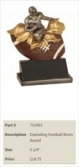 Exploding Football Resin Award
