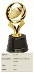 MidNite Star Football Trophy