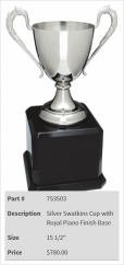 Silver Swatkins Cup with Royal Piano Finish Base