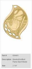 Baseball-softball-Flame-Sport-Medal