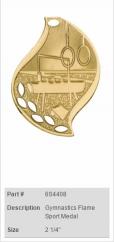 Gymnastics-Flame-Sport-Medal