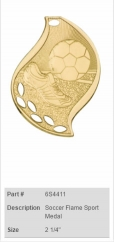 Soccer-Flame-Sport-Medal
