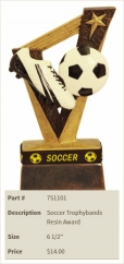 Soccer Trophybands Resin Award