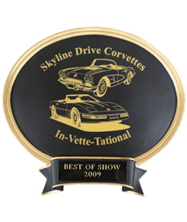 Laser Oval Car Show Award - Large