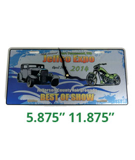 License Plate Clock Car Show Award