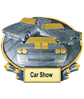Oval Resin Car Show Award