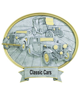 Classic Car Oval Resin Car Show Award