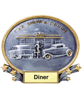 Diner Oval Resin Car Show Award
