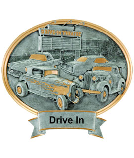 Dine-In Oval Car Show Award