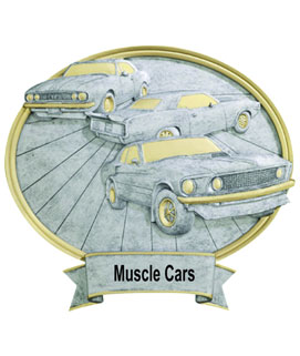 Muscle Car oval Resin Car Show Award