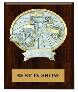 10x13 Plaque w/Oval Car Show Award