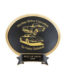 Laser Oval Car Show Award - Small
