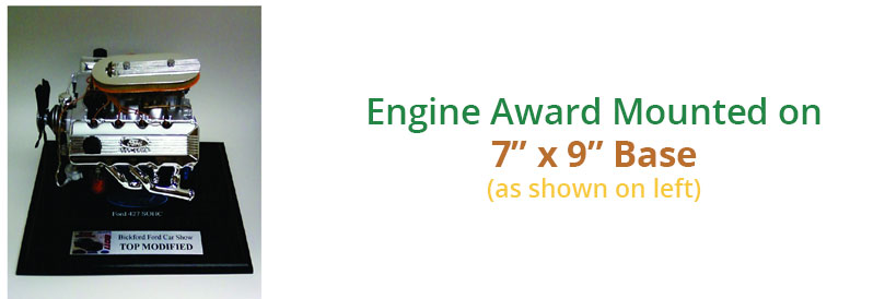 1/6 Scale Engine Car Show Award