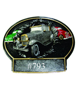 Bust Thru Oval Resin Car Show Award #1