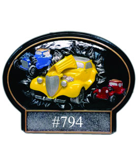 Bust Thru Oval Resin Car Show Award #3