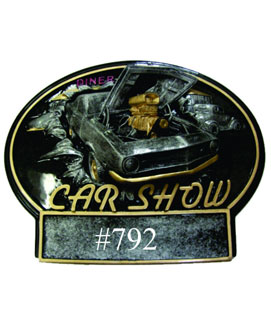 Bust Thru Oval Resin Car Show Award #4