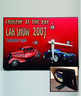 Custom Desk/Wall Clock Car Show Award